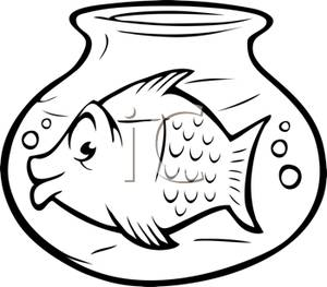 300x263 Black And White Goldfish In A Bowl