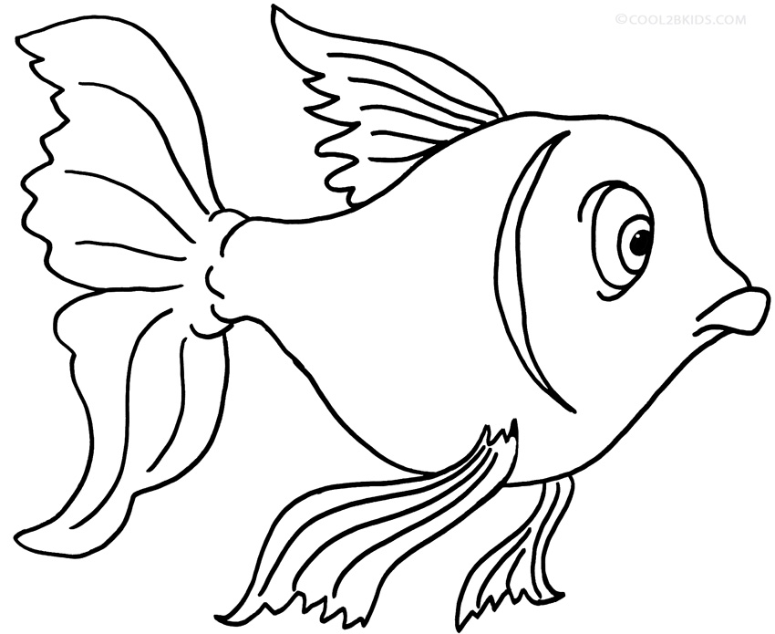 850x695 Printable Goldfish Coloring Pages For Kids Cool2bkids