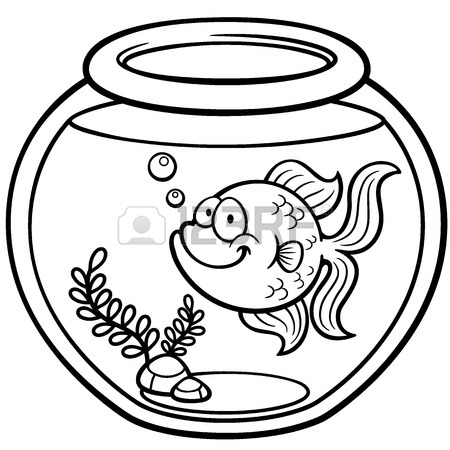 450x450 Vector Illustration Of Goldfish In A Bowl