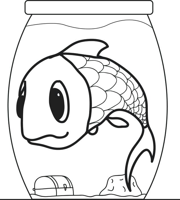 632x700 Fish Bowl Coloring Sheet Joandco.co