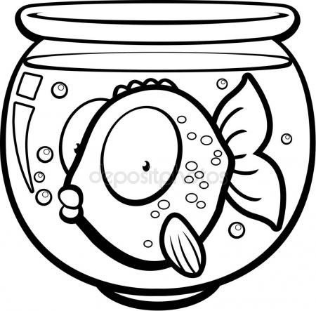450x443 Cartoon Goldfish Bowl Stock Vector Cthoman