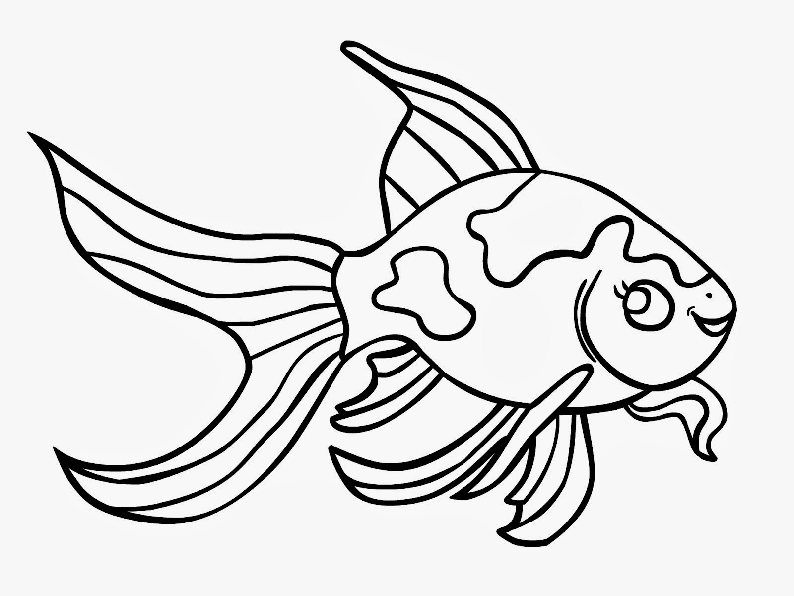 1600x1200 Excellent Design Ideas Goldfish Outline Black White Free Stock