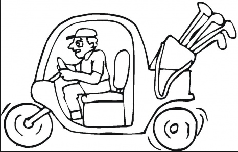 466x298 Golf Cart Coloring Page Amp Coloring Book
