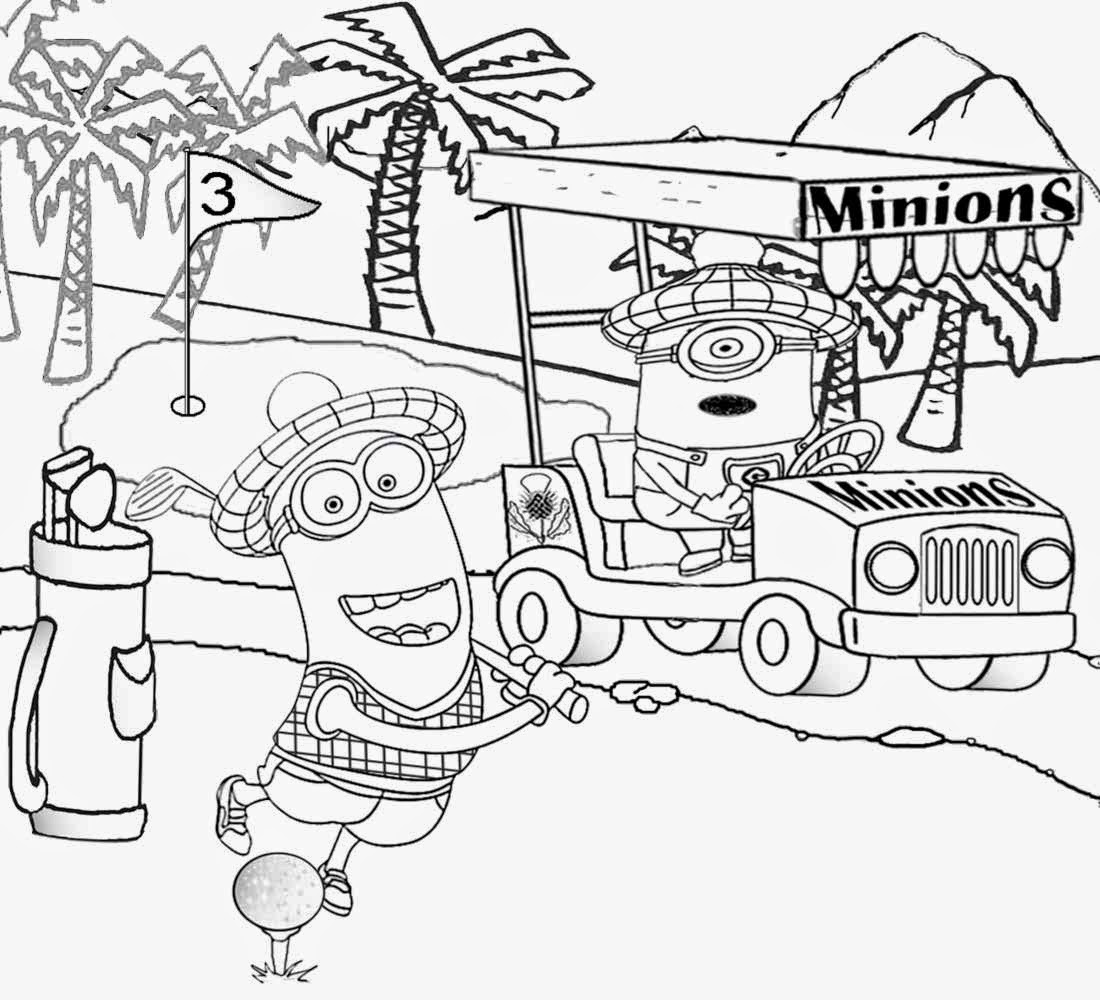 1100x1000 Best Kids Movie Despicable Me Coloring Golf Minion Activity Pages