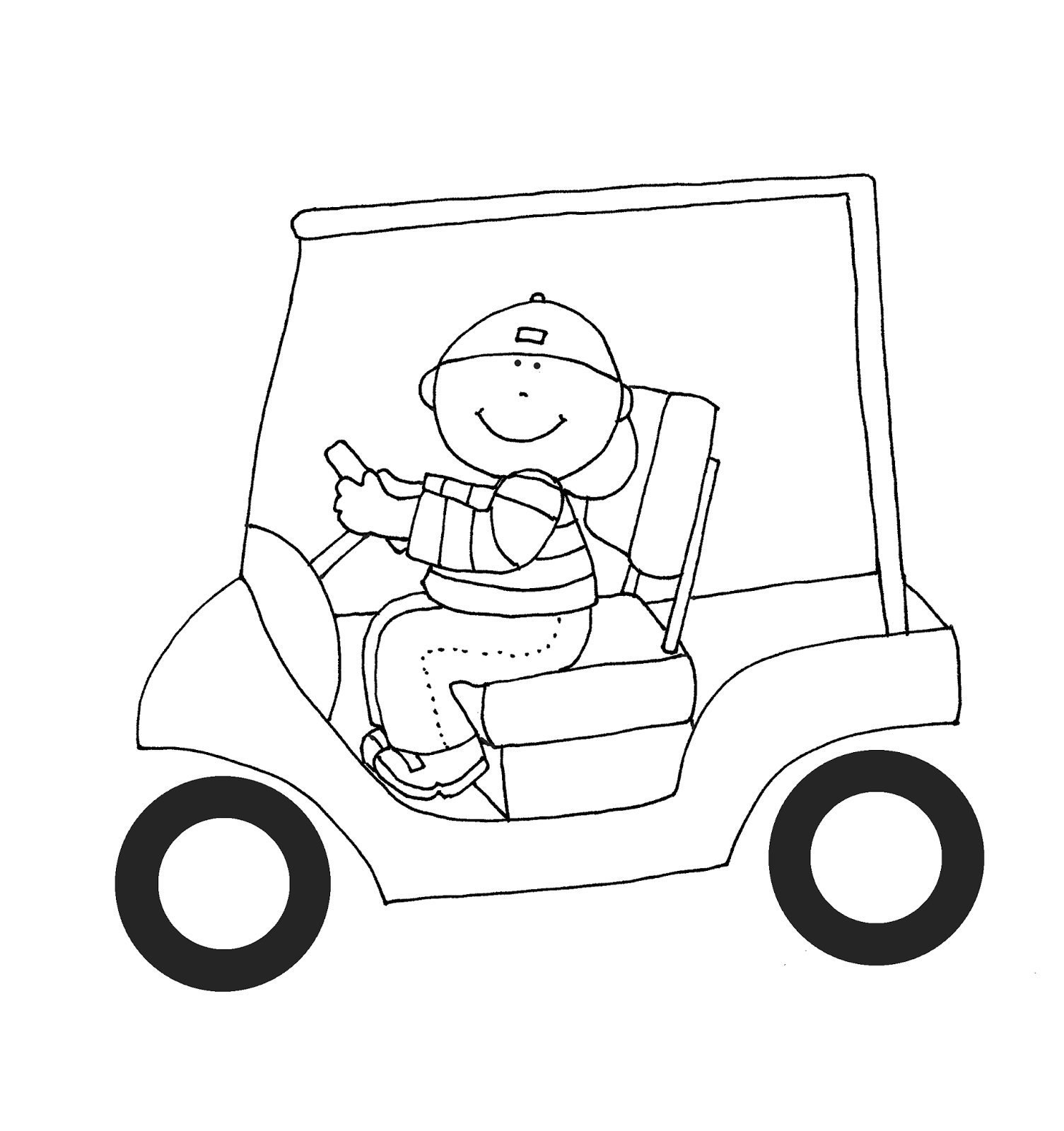 Golf Cart Drawing At Free For Personal Use Columbia Par Car Ignition Wiring Diagram 1505x1600 Dearie Dolls Digi Stamps As Requested Boy In