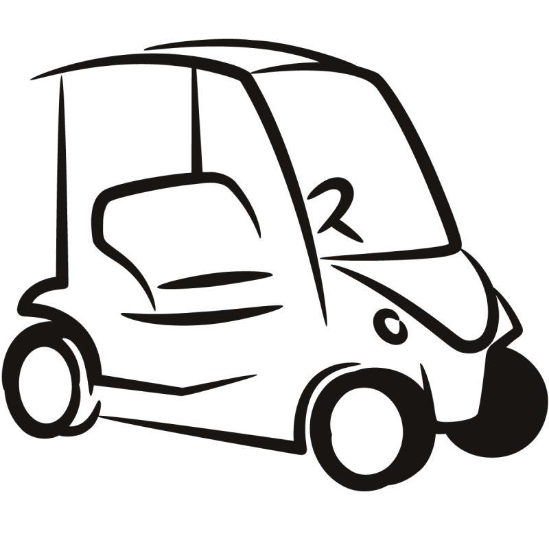 Golf Cart Drawing At Getdrawings Com