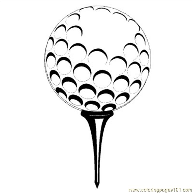 650x650 Golf Coloring Pages