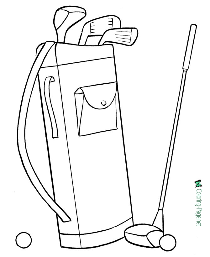 670x820 S Day Coloring Pages Golf Clubs