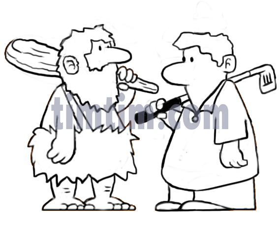 569x458 Free Drawing Of 2 Golf Men With Clubs Bw From The Category Sports