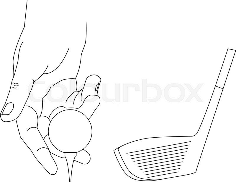 800x615 Golf Club And Ball Stock Vector Colourbox