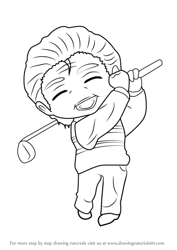 566x800 Learn How To Draw Golf Guest From Mystic Messenger (Mystic