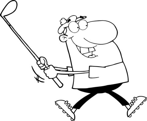480x396 Happy Golfer Coloring Page Free Printable Coloring Pages