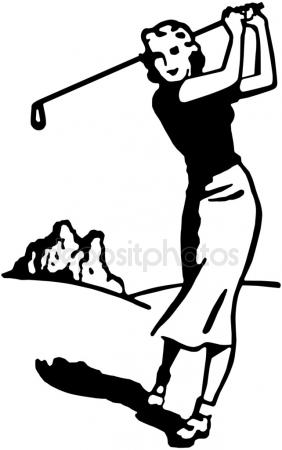 282x450 Lady Golfer Stock Vectors, Royalty Free Lady Golfer Illustrations