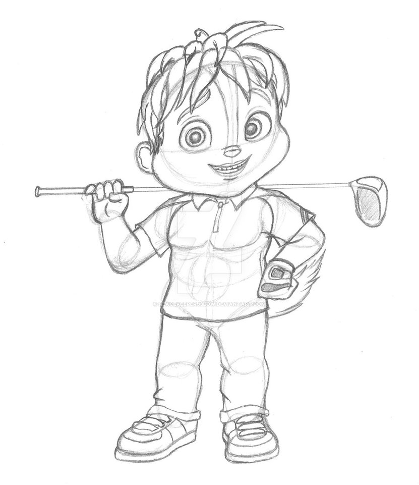 831x961 Theodore The Golfer (Sketch) By Peacekeeperj3low