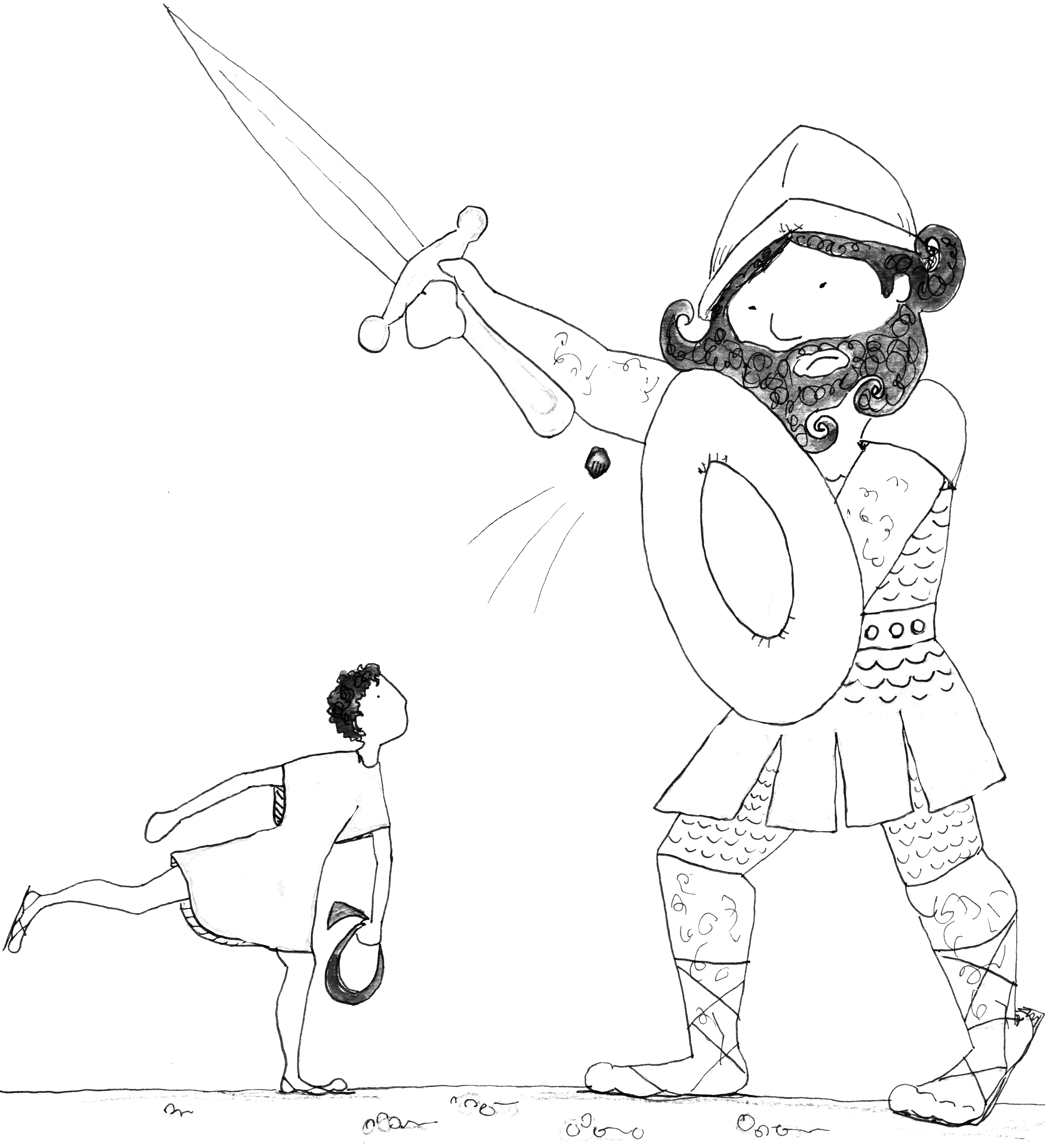 Goliath Drawing at GetDrawings.com | Free for personal use Goliath ...
