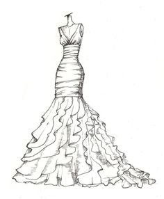 236x286 Dress Pencil Drawing! Projects To Try Fashion