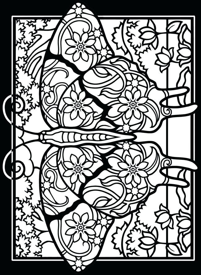 650x890 Good Free Dover Coloring Pages New Stained Glass For Kids On Art 6