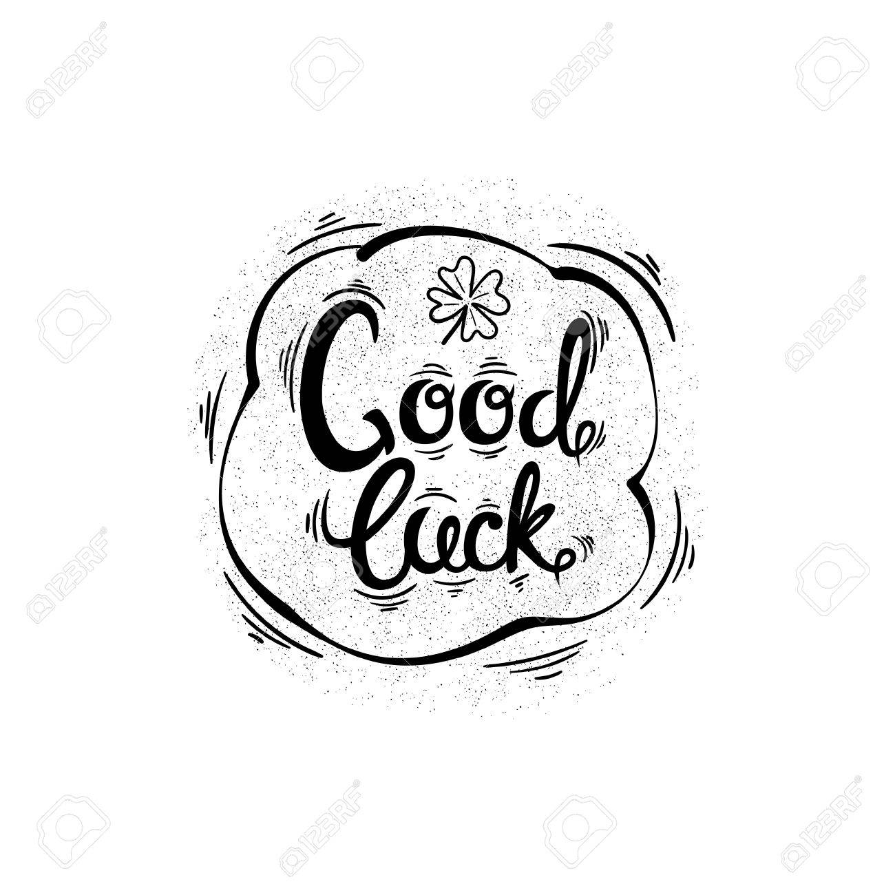 1300x1300 Good Luck. Drawing Letters And Patterns. Vector Illustration