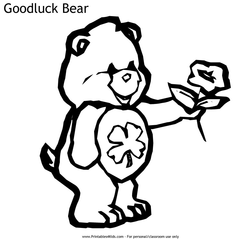 800x800 Care Bears Good Luck Bear Coloring Page Printables For Kids