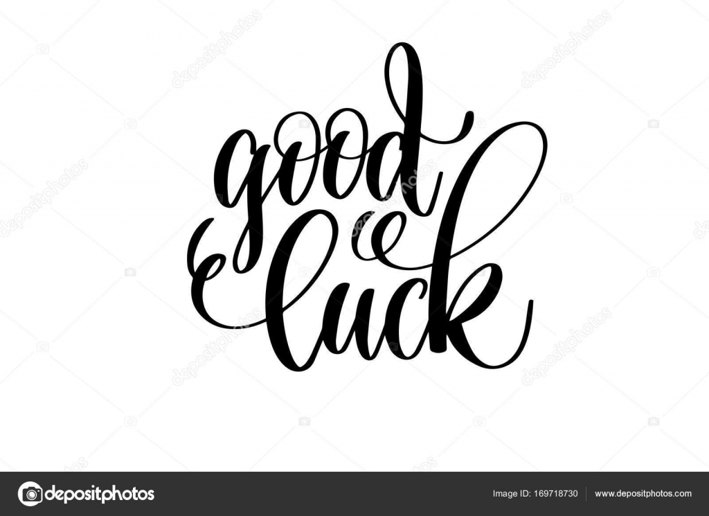1024x745 Good Luck Hand Lettering Inscription Positive Quote Stock Vector