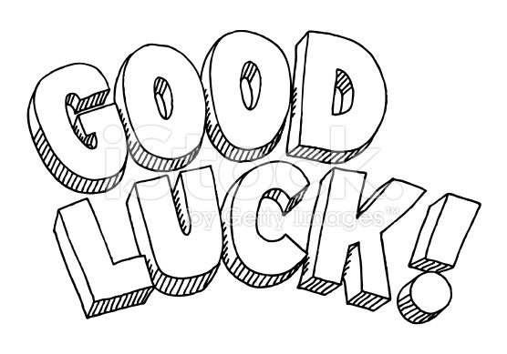 556x389 Good Luck Coloring Page