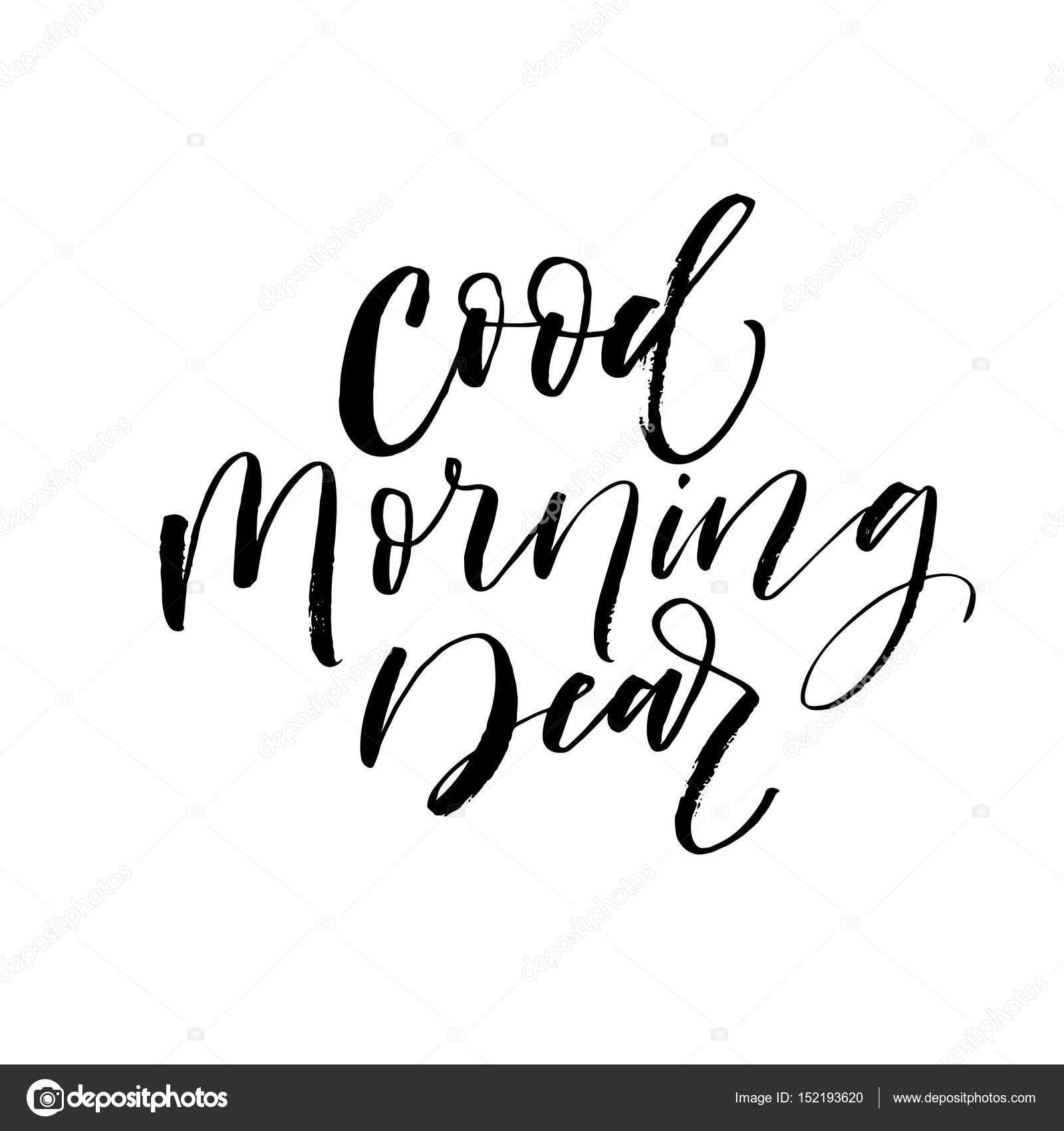 1600x1700 Good Morning Dear Postcard. Stock Vector Gevko93