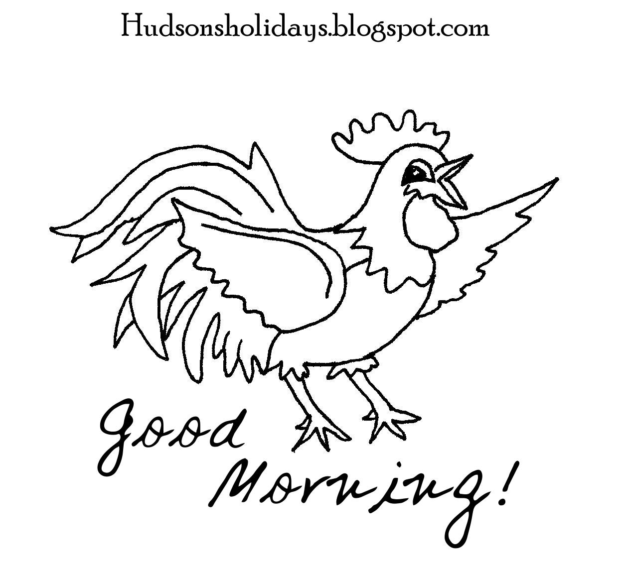 1252x1139 Holiday Good Morning Rooster Freebie Friday