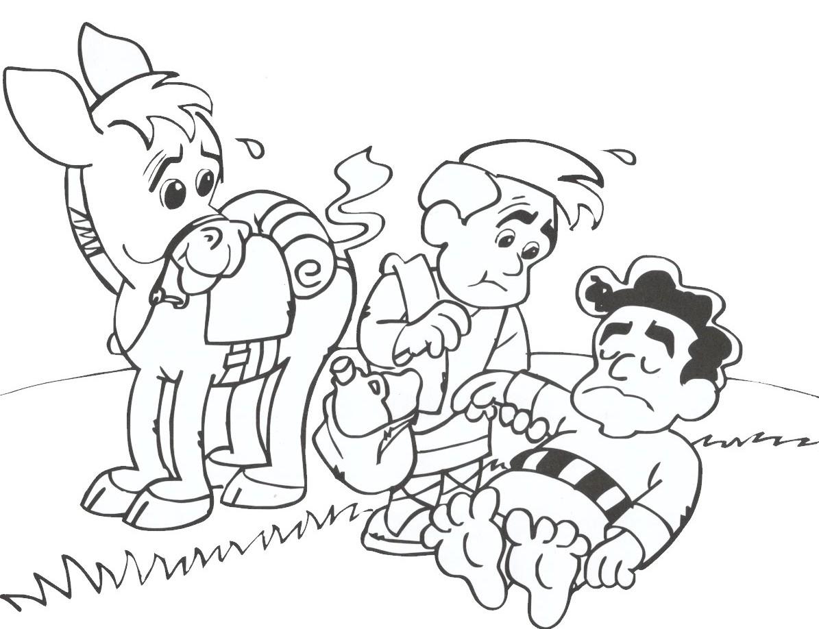 1195x918 Good Samaritan Coloring Sheets For Preschoolers Good Samaritan