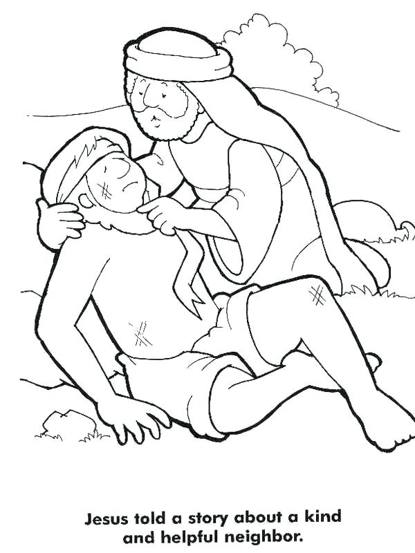 600x800 The Good Samaritan Bible Story Coloring Pages Also Good Story