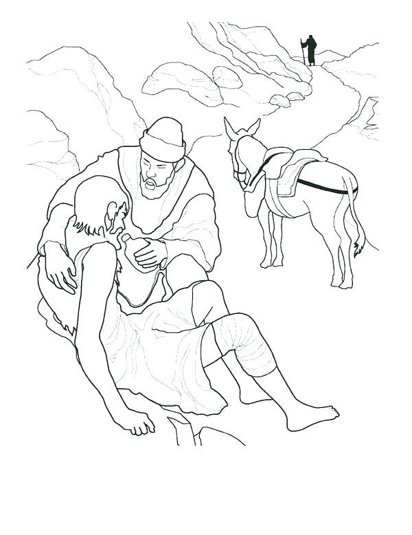 600x779 The Good Samaritan Coloring Page As Well As Good Drawing Coloring