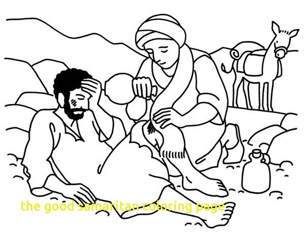 600x463 The Good Samaritan Coloring Page With