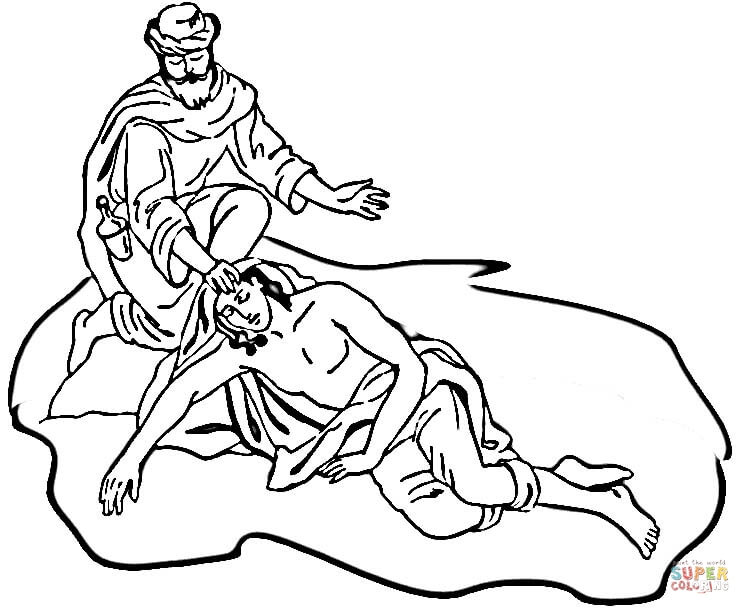 750x614 The Good Samaritan Coloring Page Free Printable Pages