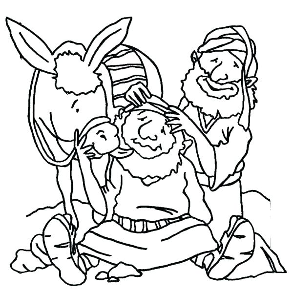 600x600 Beautiful Good Samaritan Coloring Page Online The And Helping