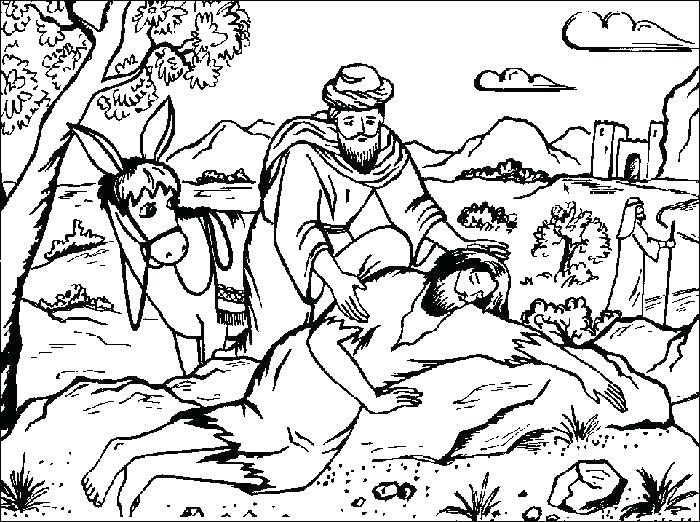 700x522 Free Coloring Page For The Good Samaritan Also Good Drawing