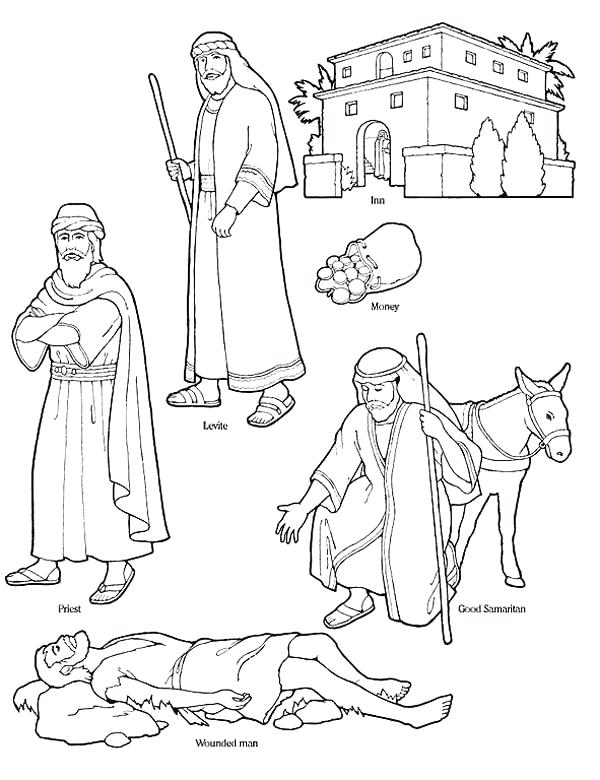 graphic about Good Samaritan Coloring Page Printable named The suitable free of charge Samaritan drawing illustrations or photos. Obtain against 60