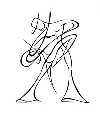322x379 Abstract Woman Drawing
