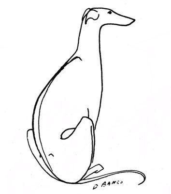 354x400 Greyhound Line Drawing