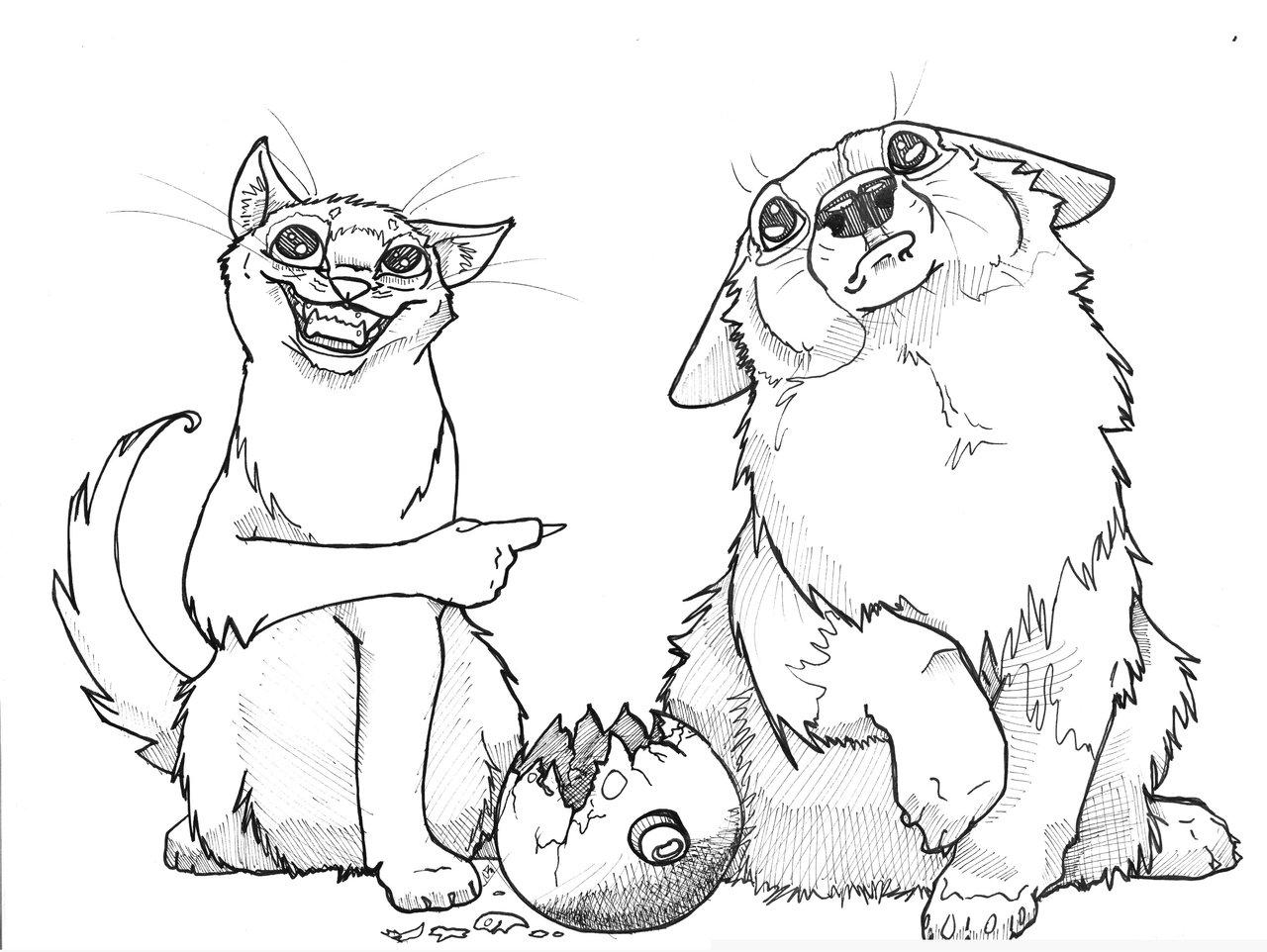1280x962 Cat Drawings