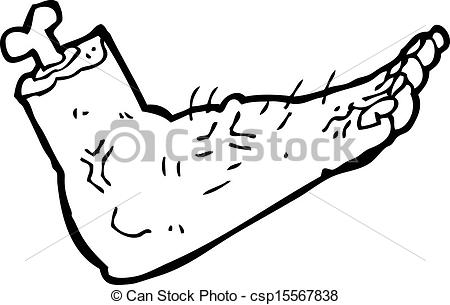 450x305 Cartoon Gross Severed Foot Vectors