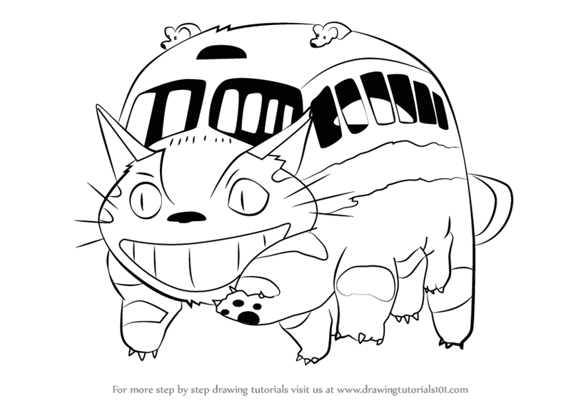 800x565 Learn How To Draw Catbus From My Neighbor Totoro (My Neighbor