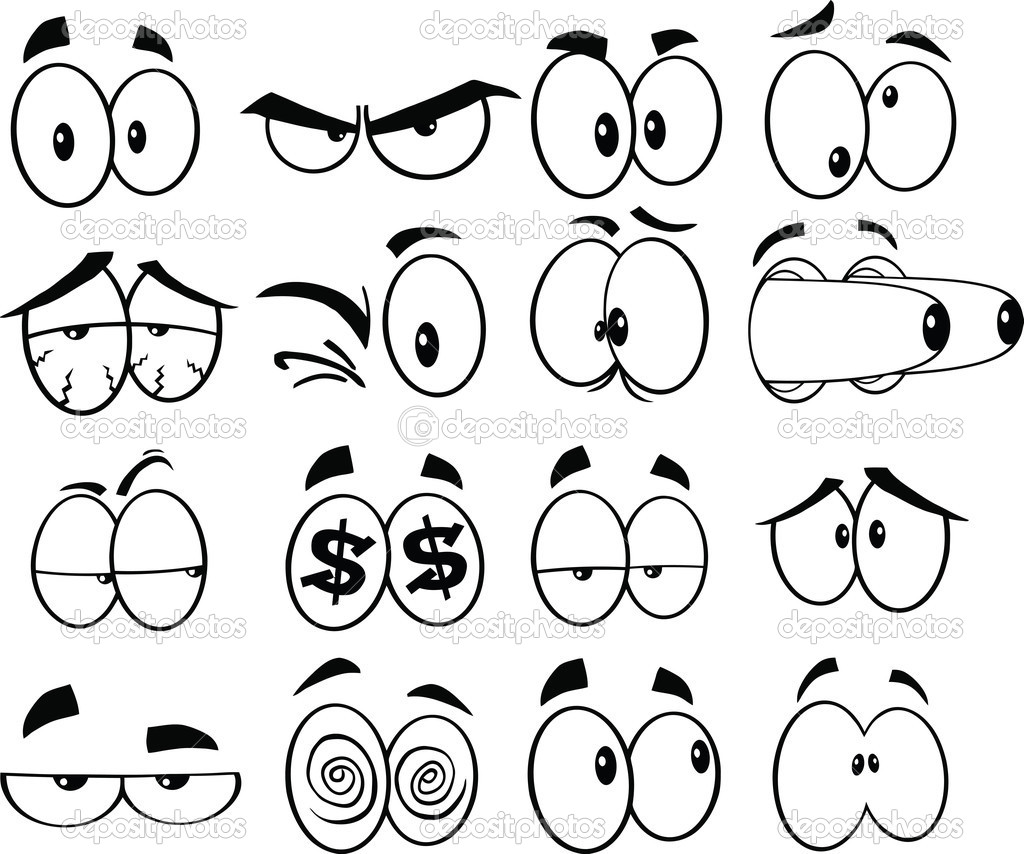 1024x854 30 Images Of Printable Cartoon Eyes Nose Mouth Template