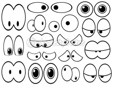 449x337 Dibujar Ojos Graciosos
