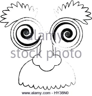 306x320 Crazy Googly Eyes With Nose And Mustache Toy Costume Icon Image