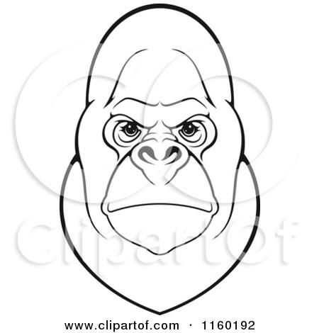 450x470 Gorilla Face Clip Art Clipart