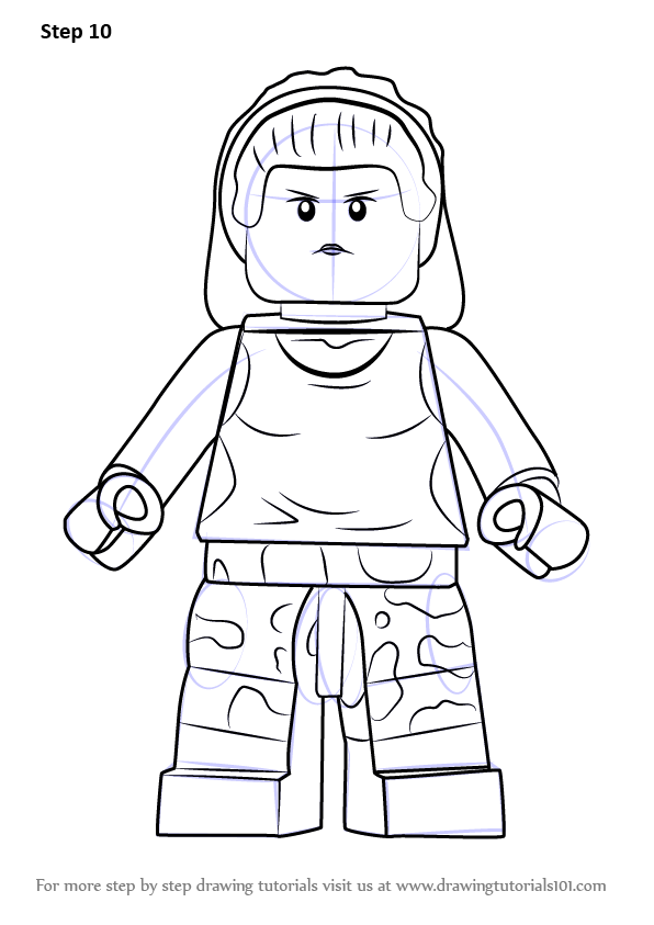 596x843 Learn How To Draw Lego Gorilla Girl (Lego) Step By Step Drawing