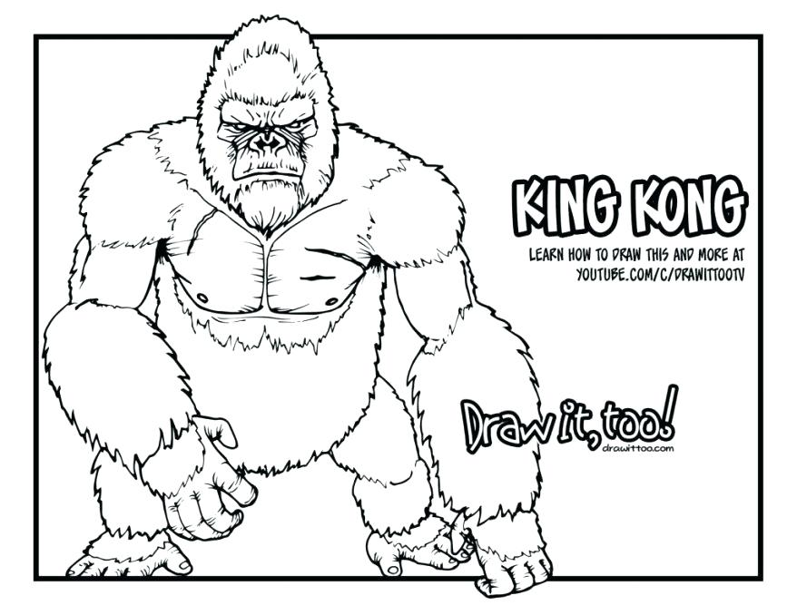 878x678 Donkey Kong Coloring Pages Gorilla The Flash Or King Skull Island