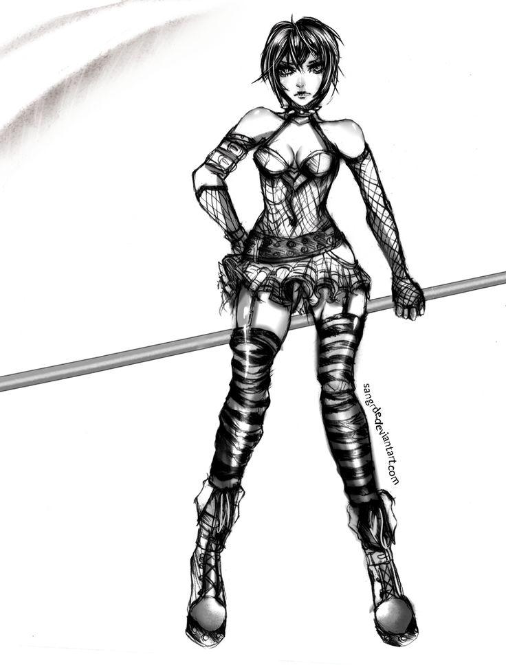 Goth Girl Drawing