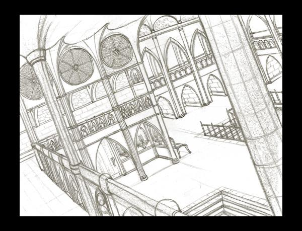 600x459 Gothic Cathedral Interior