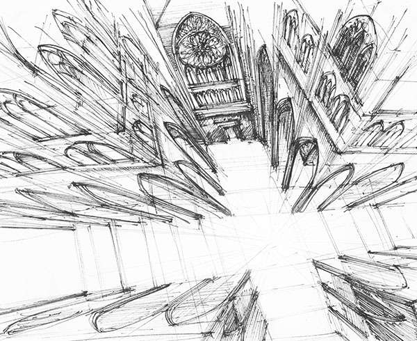 600x490 Gothic Sketches On Behance