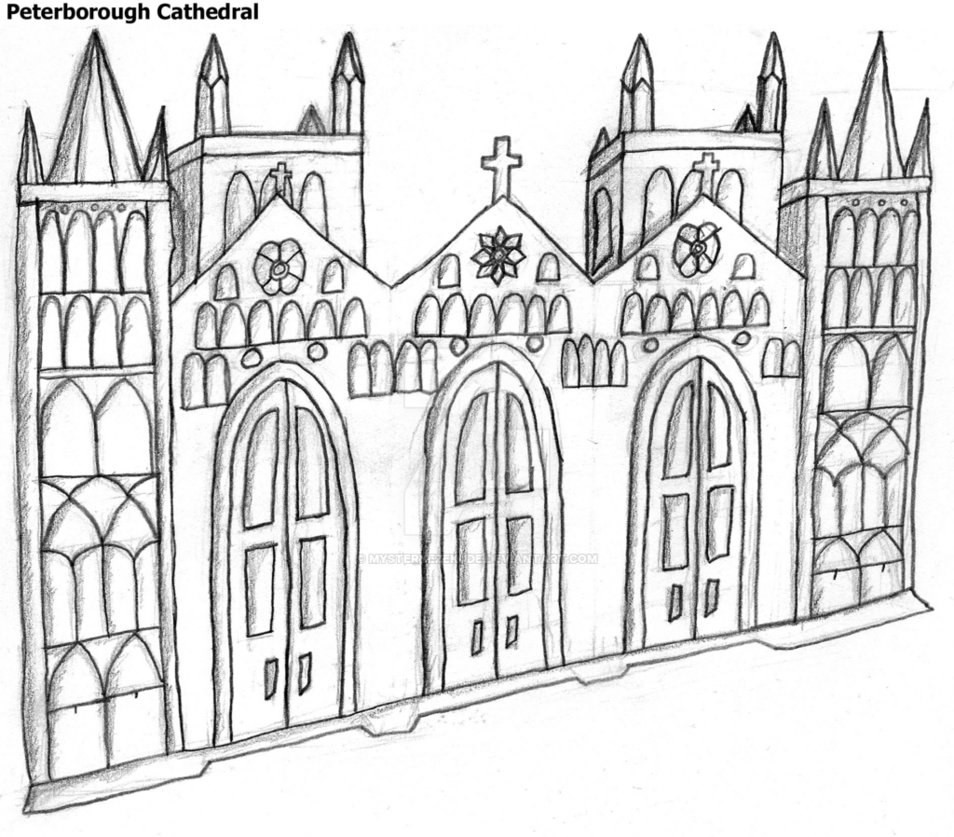 954x837 Peterborough Cathedral Sketch By Mysteryezekude